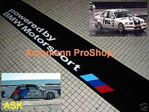 powered by BMW Motorsport Windshield Sunstrip Decal CSL