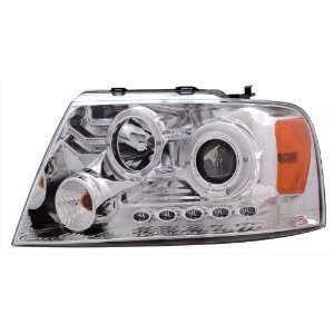 04 08 Ford F 150 Chrome LED Halo Projector Headlights /w