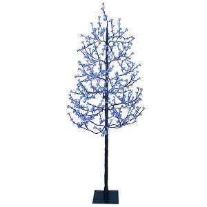 LED Lighted Cherry Blossom Flower Tree   Blue Lights