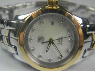 TAG Heuer Link 18K Gold SS Two Tone Diamond Dial Watch WJF1353 **Box