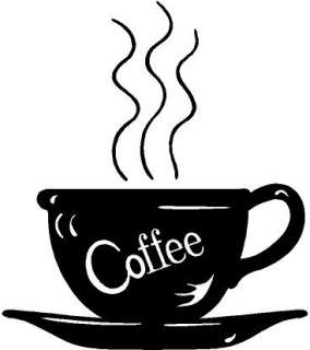 Coffee Cup Decor Decal Sticker Car Truck Boat Window