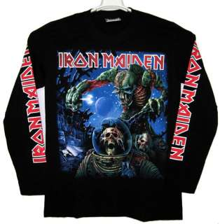 IRON MAIDEN The Final Frontier Long Sleeve T Shirt n75 New Size L