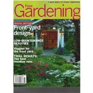 Fine Gardening Magazine (Front yard design, June 2011) Various Books