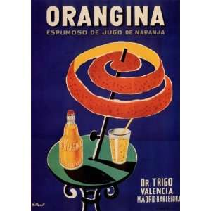 ORANGINA   Vintage Drink Ad Poster: Home & Kitchen