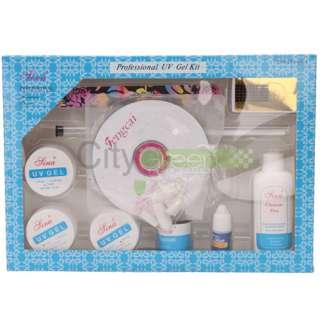 Full UV Gel Acrylic Liquid Powder Nail Art Kit Set Nourishment