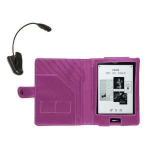 Navitech Pink Leather Flip Carry Case & Night Reading