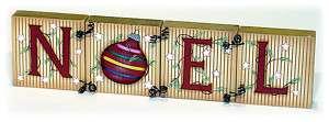 Wood NOEL Block Sign Christmas Holiday Decor Gift NEW