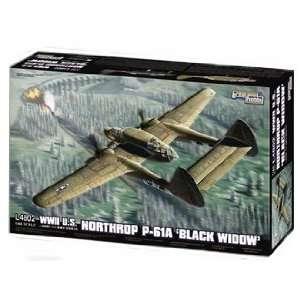 Hobby 1/48 WWII U.S. Northrop P 61A Black Widow Kit Toys & Games