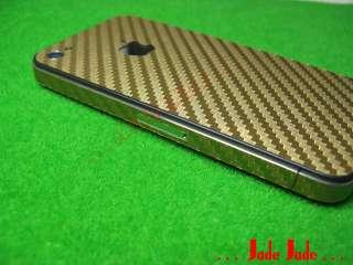 Gold Carbon Fiber Full Body iPhone 4 Skin Sticker #G