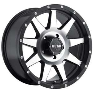 Gear Alloy Overdrive 20x9 Black Wheel / Rim 6x135 with a 18mm Offset