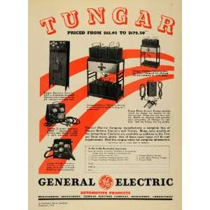 1935 Ad Tungar General Electric Automotive Products Car