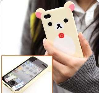 Gift Cute Yellow Rilakkuma Bear Big ear Apple iphone 4 / 4s phone case