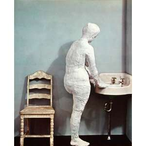 1970 Pop Art George Segal Woman Washing Feet Sink Print