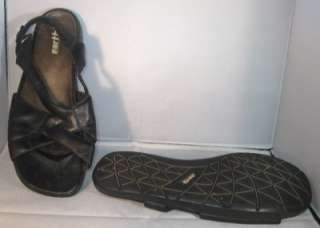 EARTH Kalso NT Womens Black Leather Flats Sandals Shoes Size 9 B US