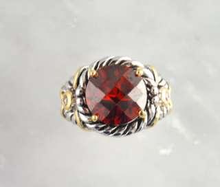 CZ Brass Ring Rhodium Finish Silver Gold Tone Designer Jewelry