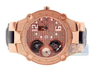 Automatic 0.20 ct Diamond Small Second Mens Rose Gold Watch