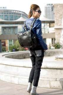 Womens PU Leather England College Style Vintage Backpack 2 Colors