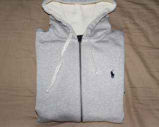 Polo Ralph Lauren Gray Full Zip Hoodie Sweatshirt Size Large L NWT