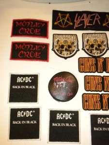 LOT 20   AC/DC MOTLEY CRUE PANTERA SLAYER IRON MAIDEN JUDAS GUNS ROSES