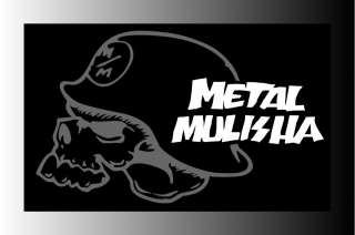 Metal Mulisha Helmet With Words Logo Motorcycle Bumper Sticker Decal