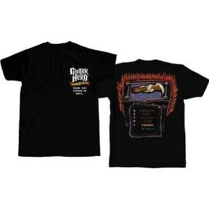Guitar Hero Press Button To Rock Mens Shirt Toys & Games