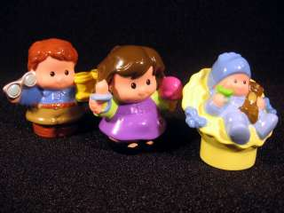 Fisher Price Little People Mom Dad Baby Happy Sounds Home Replacement