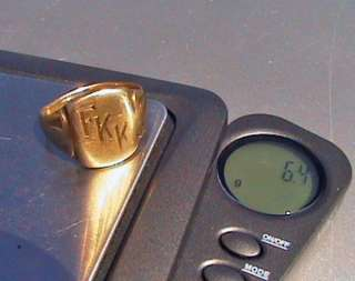 solid 10k gold ring 6.3g grams scrap or wear size 9 signet band