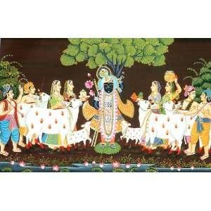 Adoration of Shrinathji (Lord Krishna) at Nathdwara