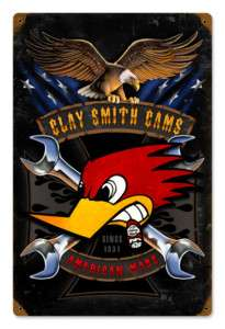Clay Smith Mr Horsepower American Made 12x18 Metal Sign