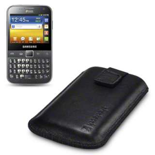 SHOCKSOCK GENUINE LEATHER CASE FOR SAMSUNG GALAXY Y PRO DUOS