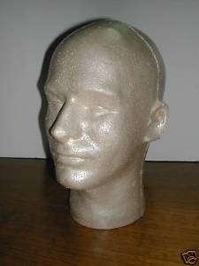 MALE FLESHTONE MANNEQUIN DISPLAY HEAD CASE OF 8