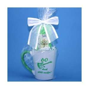 60 and Still Rockin Coffee Mug Gift Package   60th