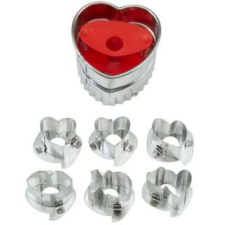 Wilton Linzer Cookie Cutters heart star round Valentine Christmas