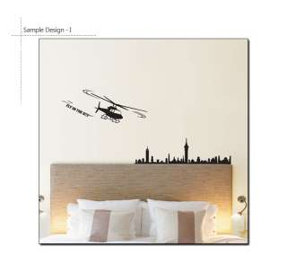 HELICOPTER Mural Art Vinyl Wall Graphic Sticker Decals