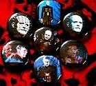 HELLRAISER Pinhead puzzle box horror ~7 Button LOT~ 80s cenobites