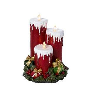 Kurt Adler Battery Operated Musical LED Red Candle in