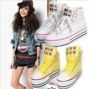 Womens fashion Cool high heel Platform Sneakers shoes