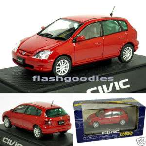 Ebbro 1/43 Honda CIVIC Red 5 doors Hatchback EU MMP