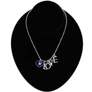 Milwaukee Brewers Love Necklace with Heart Team Logo: Sports