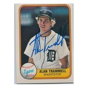 Alan Trammell Autographed 1981 Fleer