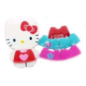 Hello Kitty 7 Piece Dress Up Kitty Eraser Set Toys