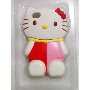 3D Hello Kitty iPhone Case (Red & Pink dress) for iPhone 4