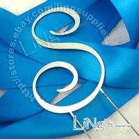 Initial Metal HMH Monogram Silver Wedding Cake Topper