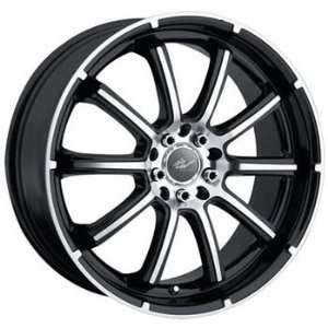 ICW Taboo 18x7.5 Black Wheel / Rim 4x100 & 4x4.5 with a 42mm Offset