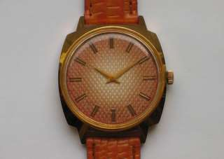Beautiful gold plated LUCH soviet watch 23 Jewels MINTY