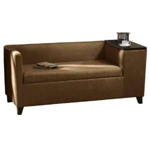 Griffin Tapered Gossip Bench 60w Moroccan Brown