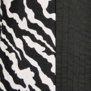 Sutton Studio Women Cotton Silk Blend Black & White Zebra Print Jacket