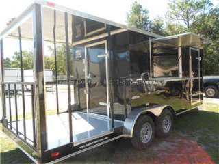 20 Custom Enclosed Concession Food Vending BBQ Trailer w/ Porch