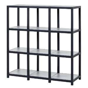 Way Basics Modlife Zurich Modular Shelving System, Black