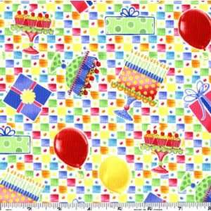 45 Wide Special Occasions Birthday Cakes Checks Multi